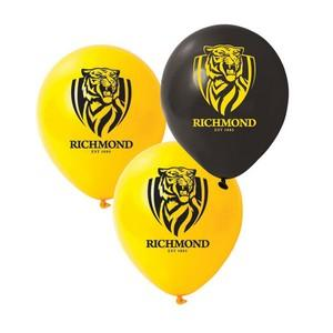 Richmond AFL Logo Printed Latex Balloon Various