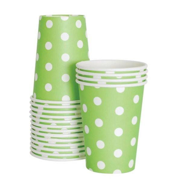 Apple Green Spotted Paper Cups Paper Eskimo