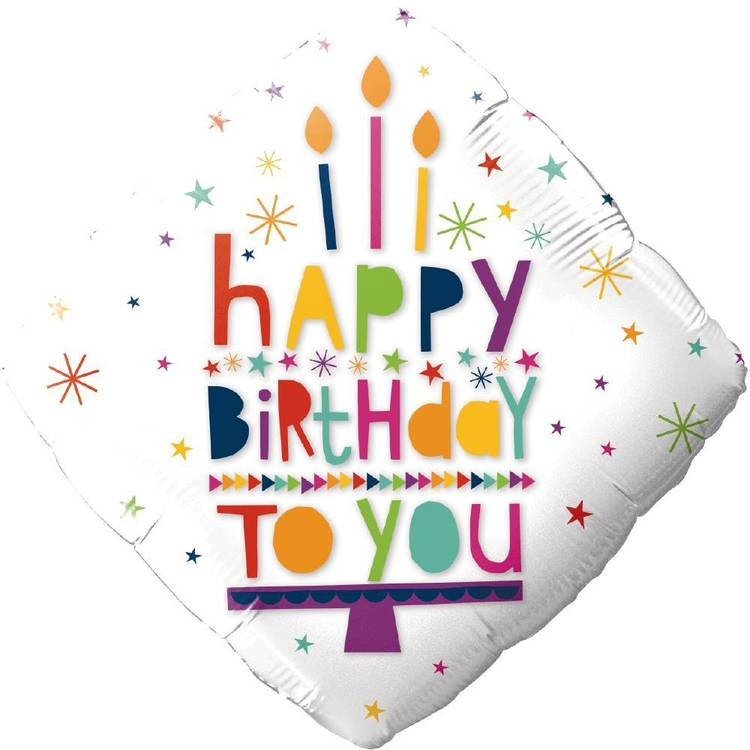 Happy Birthday to You Candle Foil Balloon
