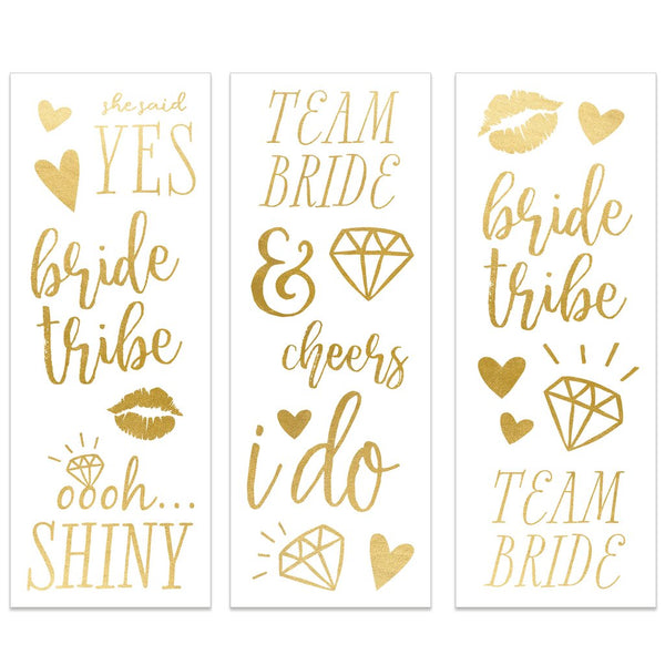 Bride To Be Temporary Tattoos