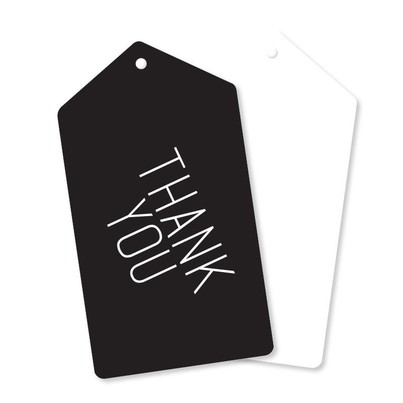 Black With Silver Thank You Tags illume design