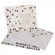 Black and Gold Confetti Thankyou Cards hiPP