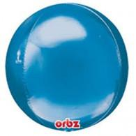 Blue Metallic Orb Shaped Balloon Anagram