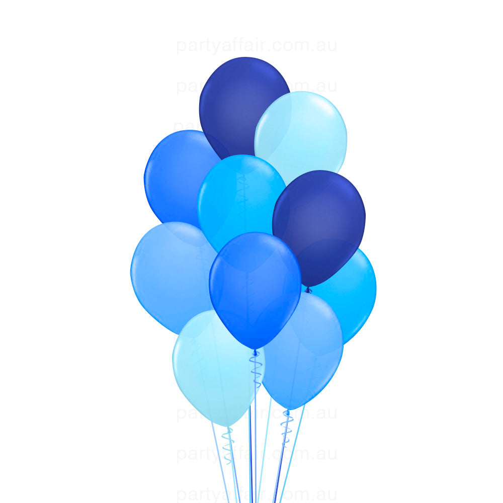 Blue Party Latex Balloon Bouquet