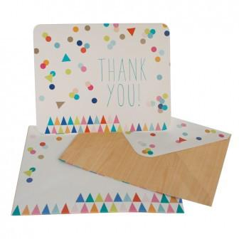 Bright Colourful Confetti Printed Thankyou Cards hiPP