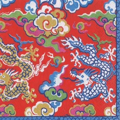 Silk Red Imperial Lunch Napkins