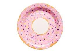 Donut Design Paper Party Plates Sundays