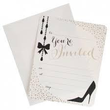 Glamour Invitations With Black Glitter And Foil hiPP