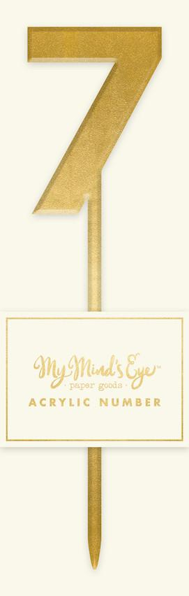 Gold Acrylic Number 7 Cake Topper My Mind's Eye