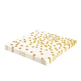 Gold Foil Confetti Lunch Napkins Sundays
