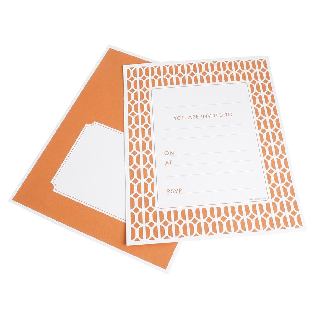 Habitat Tangelo Geometric Party Invitations hiPP