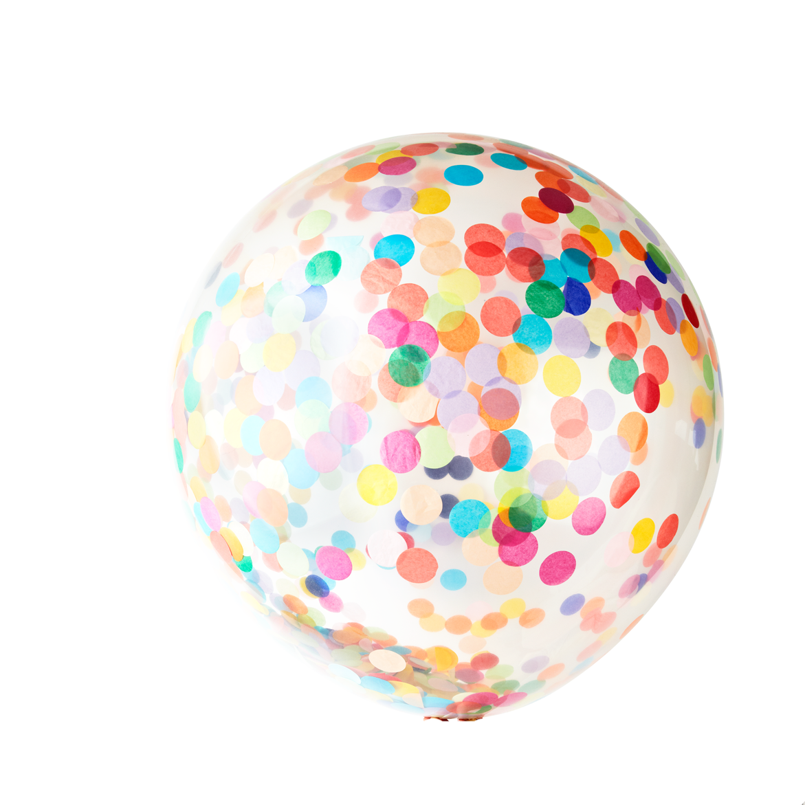 Bright Rainbow Jumbo Confetti Balloon