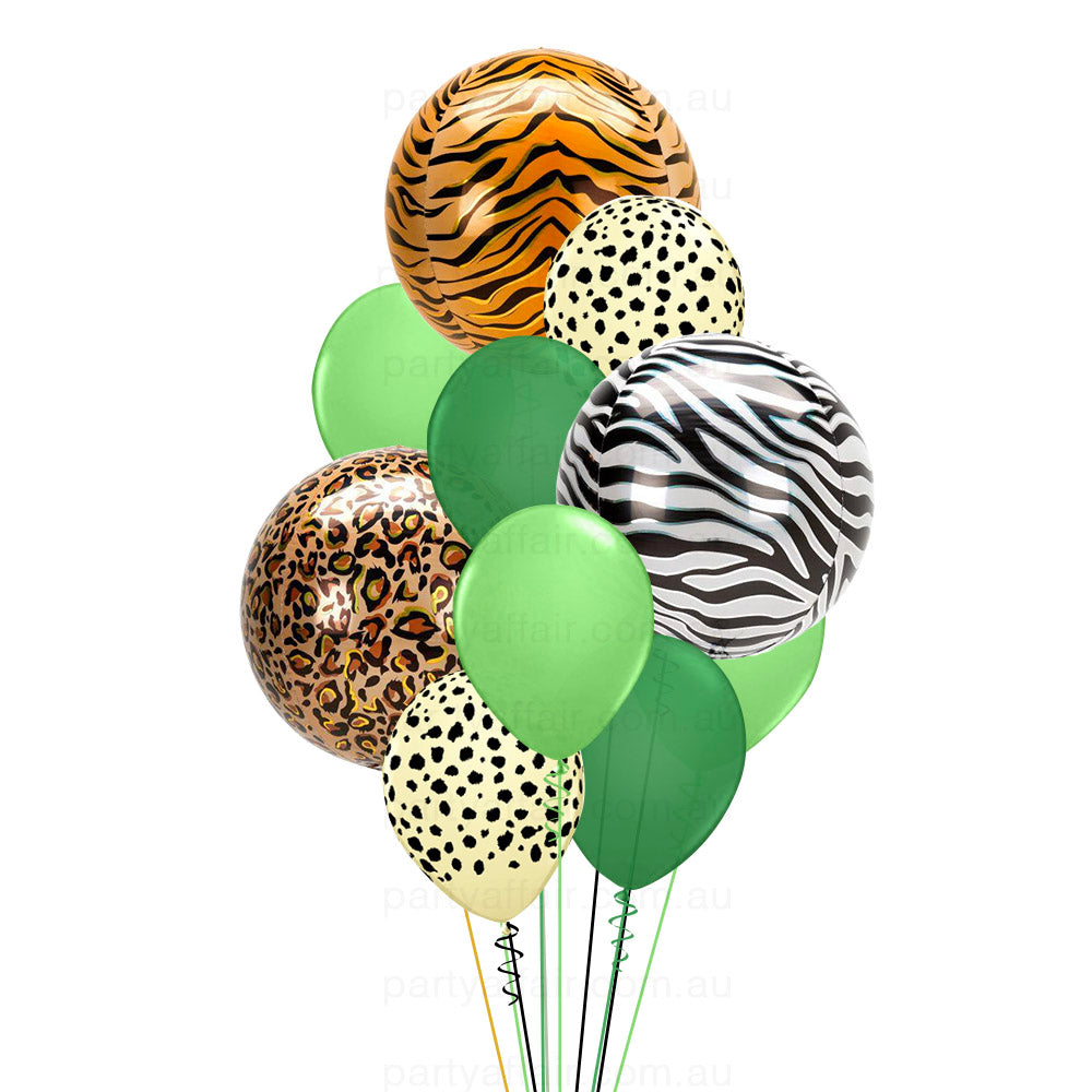 Jungle Jive 3 Foil Orb Balloon Bouquet