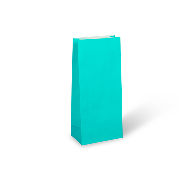 Turquoise Blue Paper Party Bag