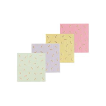 Gelato Gold Sprinkles Cocktail Napkins
