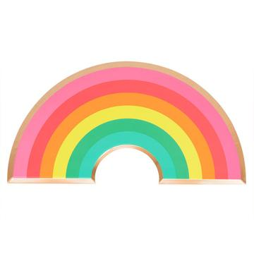 Colourful Rainbow Shaped Paper Plate
