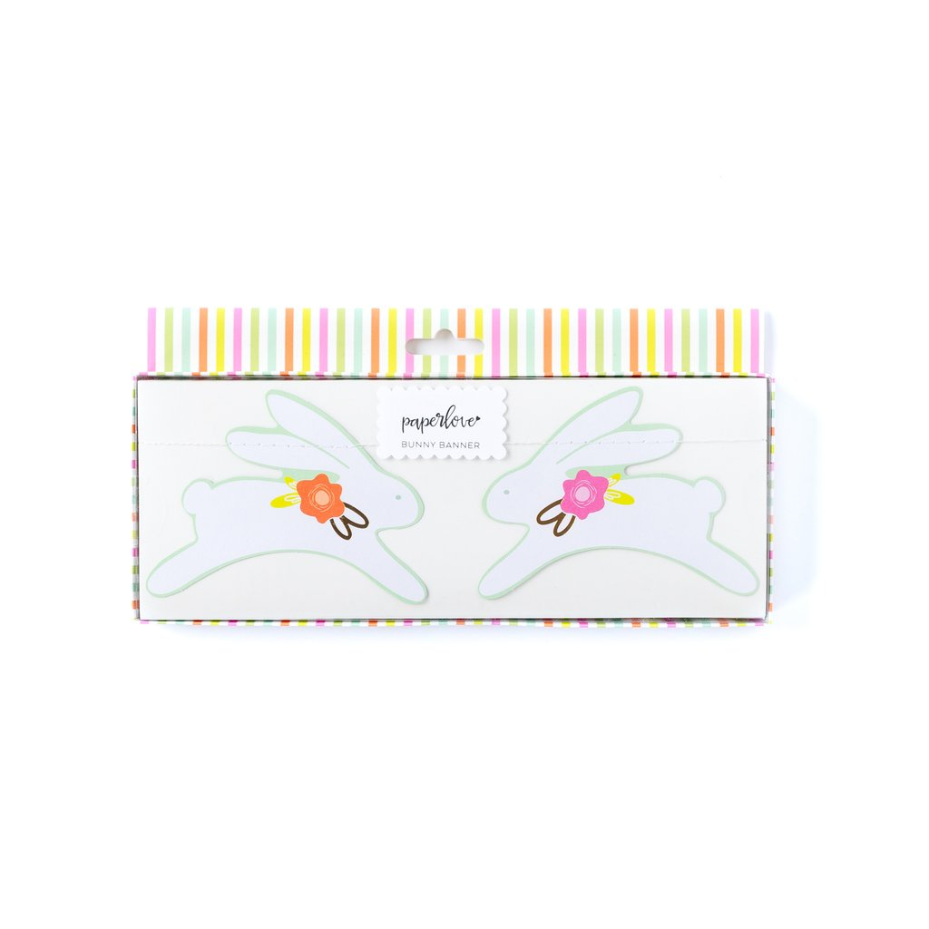 Double Sided Paper Bunny Banner