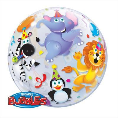 Party Animals Clear Bubble Balloon Qualatex