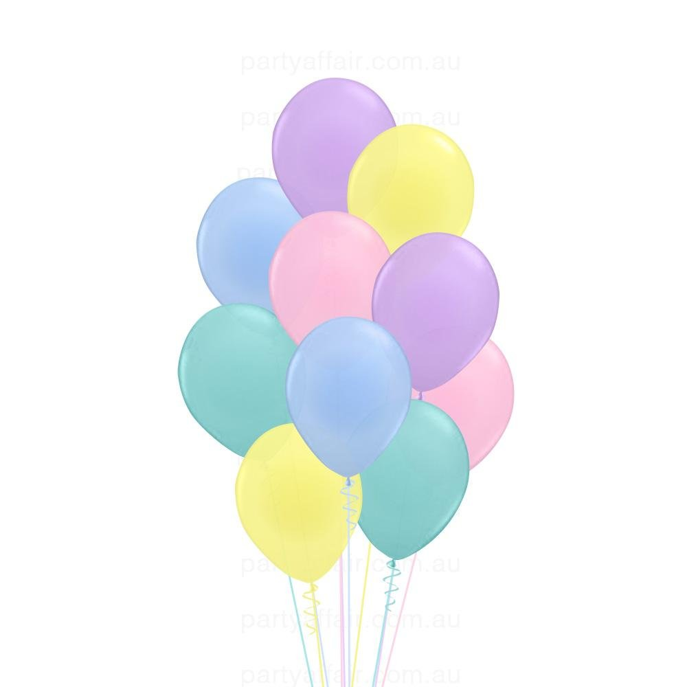 Pastel Party Latex 10 Balloon Bouquet Party Affair