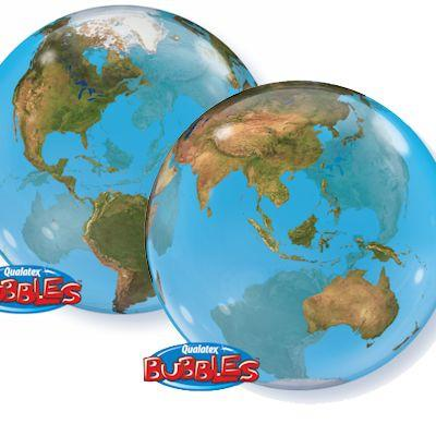 Planet Earth Globe Bubble Balloon Qualatex