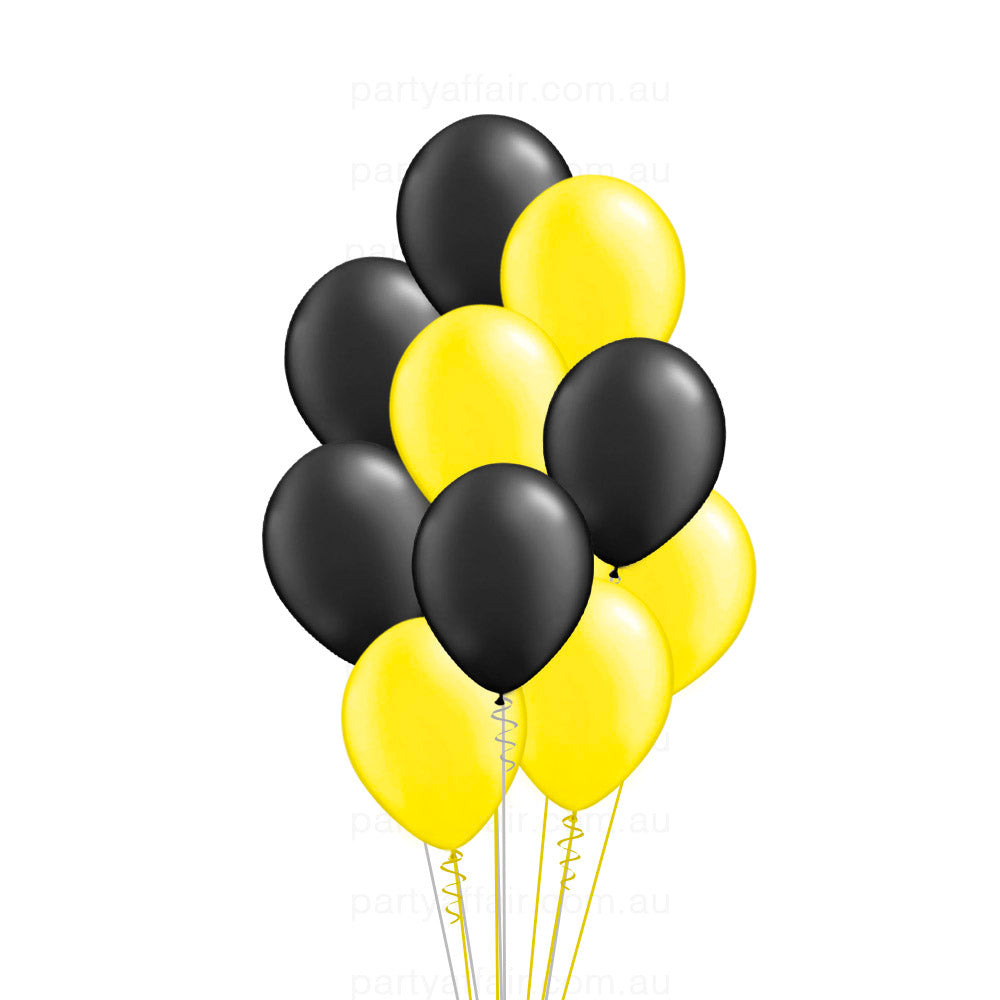 Richmond Football Team Latex 10 Balloon Bouquet