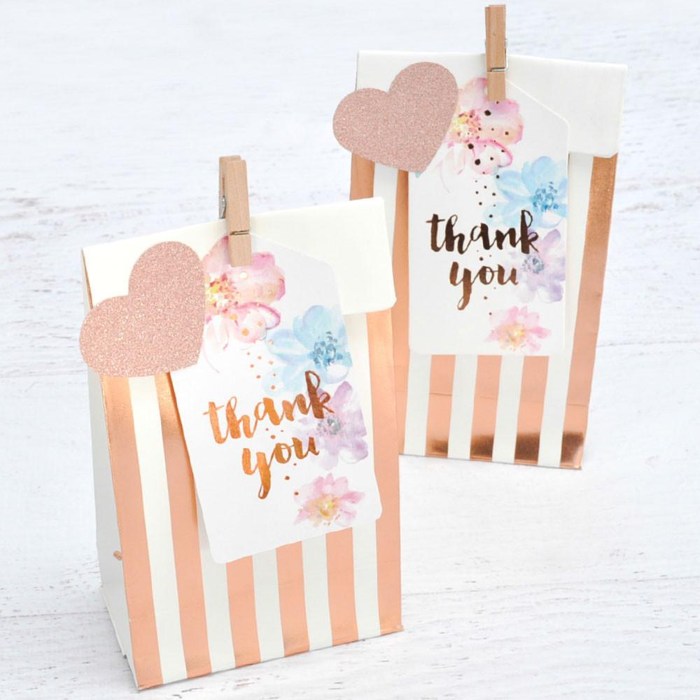 Rose Gold Floral Gift Tags illume design