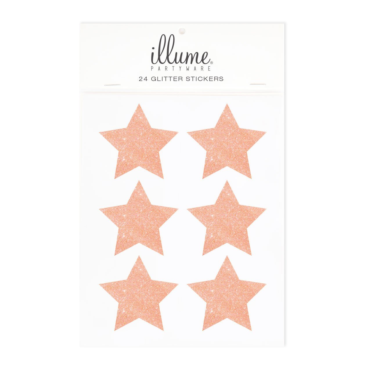 Rose Gold Glitter Star Sticker Seals illume design