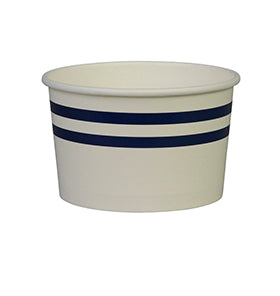 Navy Stripe Ice Cream Cups