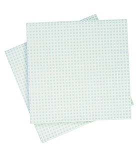 Soft Blue Hessian Lunch Napkins