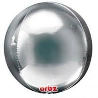 Silver Metallic Orbz Foil Balloon Anagram