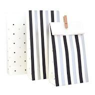 Silver and Black Spots and Stripes Treat Bags illume design