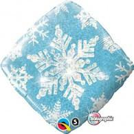 Snowflake Sparkles Blue Holographic Foil Balloon Qualatex