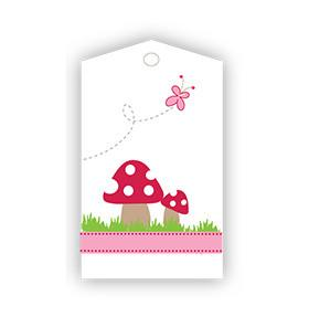 Toadstool And Butterfly Gift Tags Sambellina