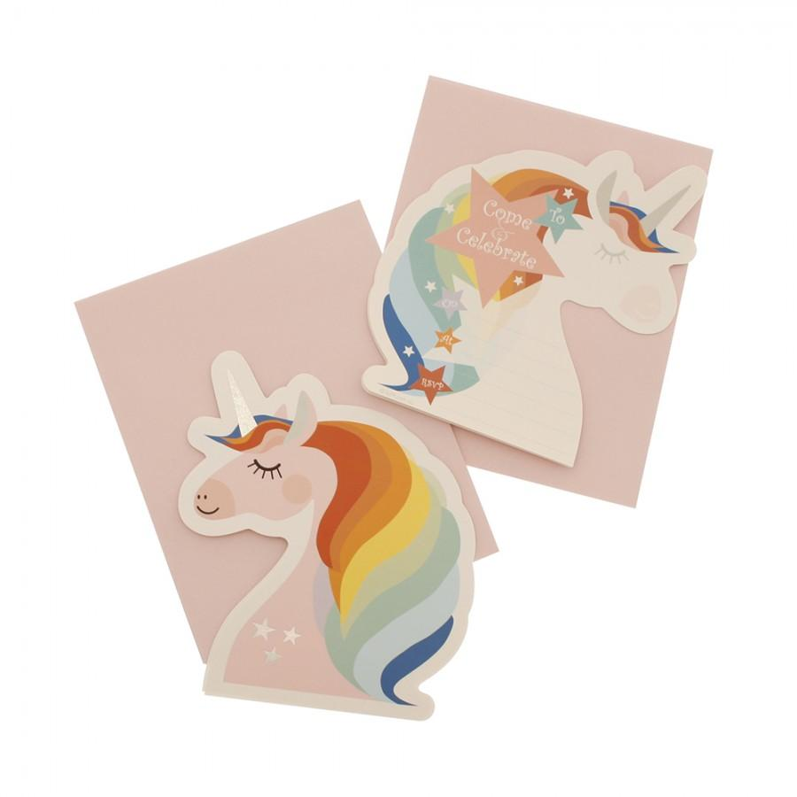 Unicorn Party Invitations hiPP