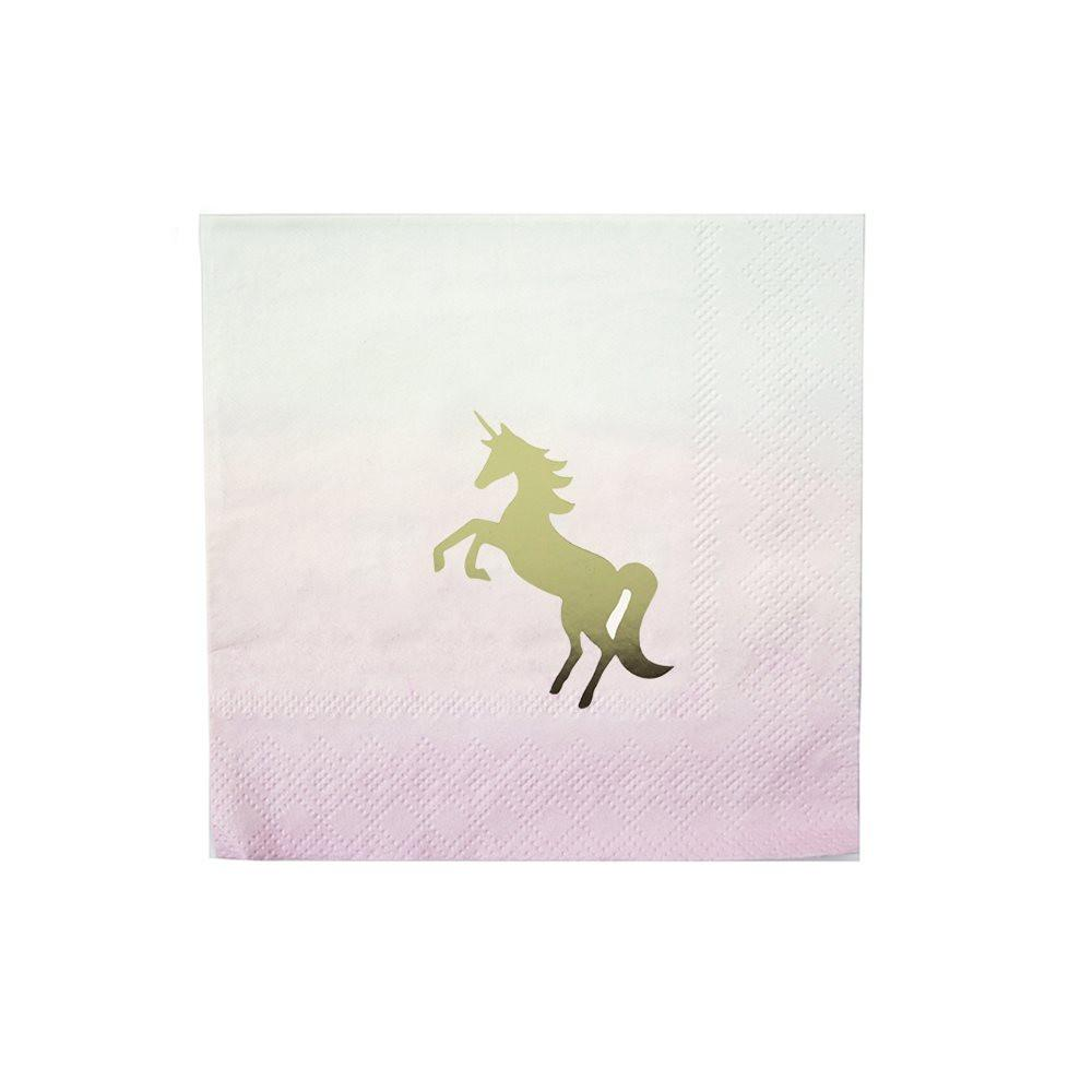 We Love Unicorn Cocktail Napkins Talking Tables
