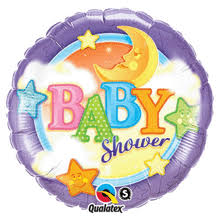 Stars & Moon Baby Shower Foil Balloon