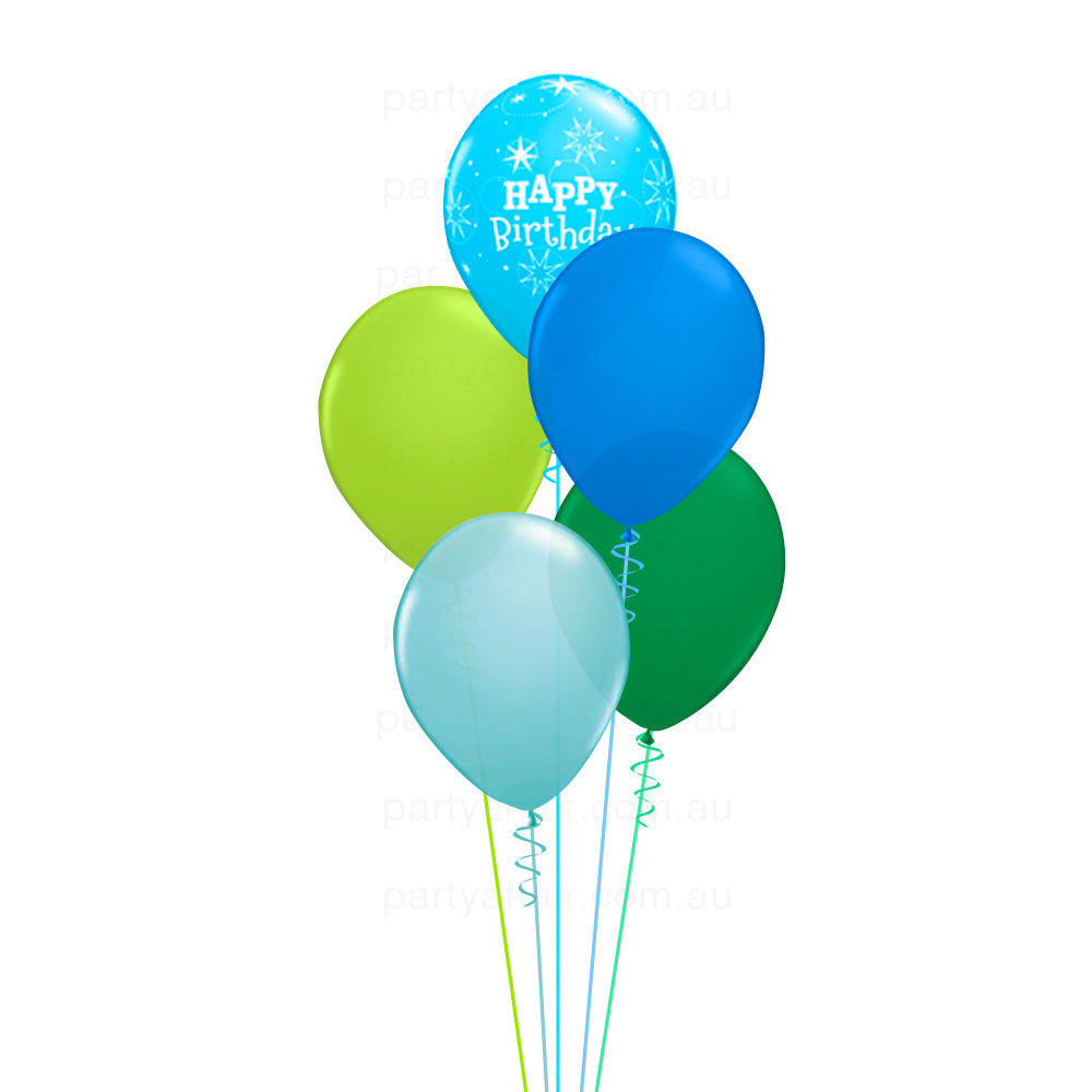 Birthday Sparkle Blue Balloon Bouquet