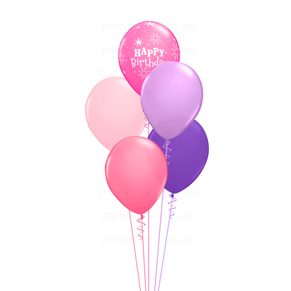 Birthday Sparkle Pink Balloon Bouquet