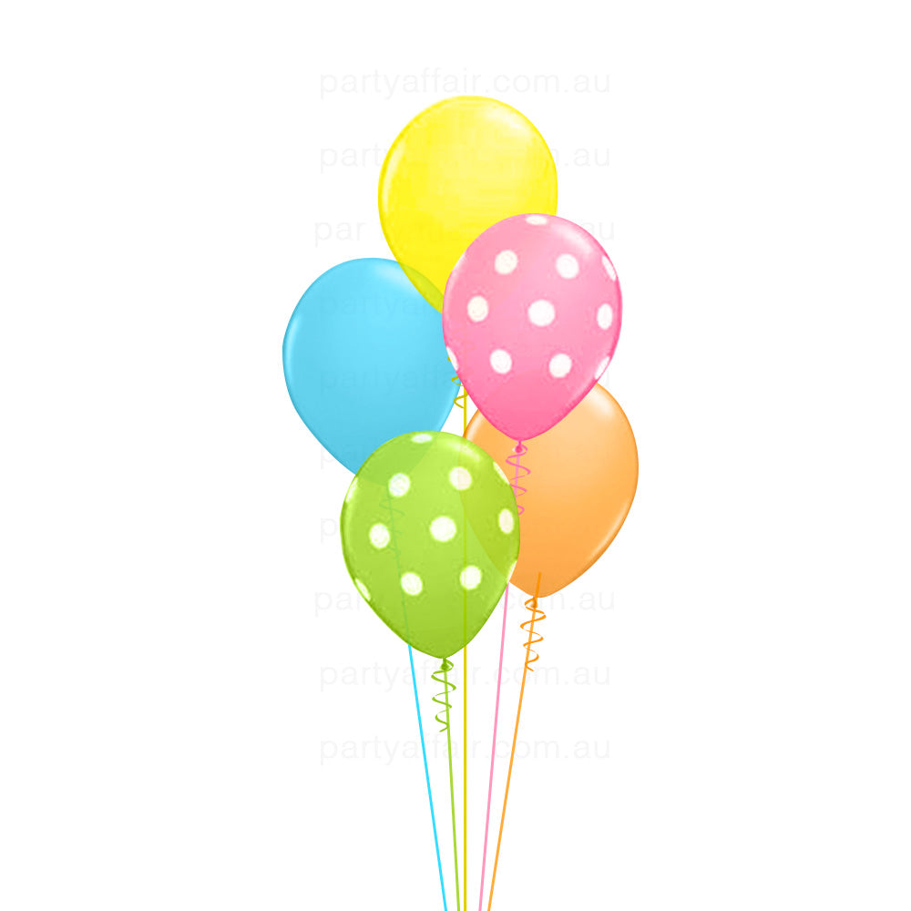 Polka Dots Latex Balloon Bouquet