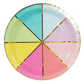 Colour Wheel Paper Party Plates