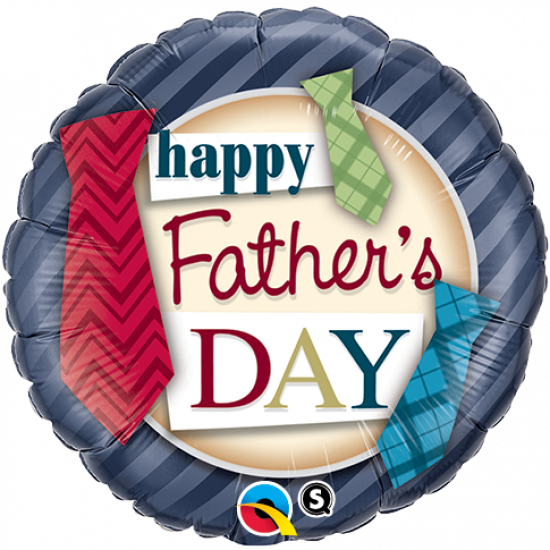 Happy Father's Day Ties Foil Balloon