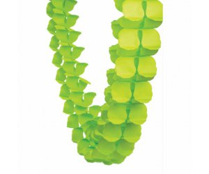 lime green honeycomb garland