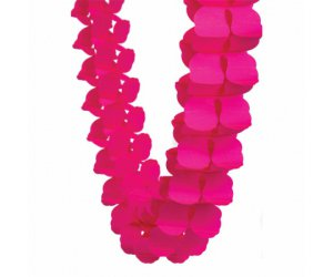 magenta honeycomb garland