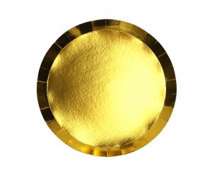 Metallic Gold Round Snack Plates