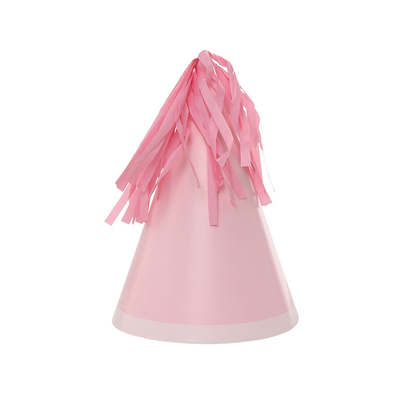 Pink Tassel Topper Party Hats