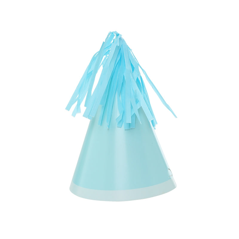 Pastel Blue Tassel Topper Party Hats
