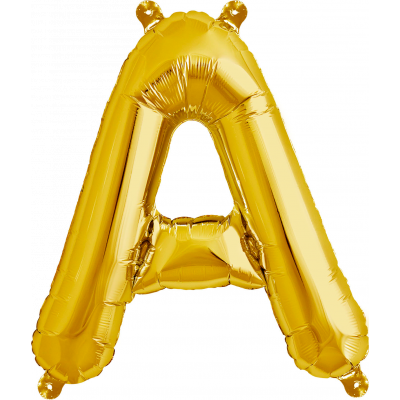 Gold Junior Letter A Foil Balloon