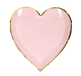 pink and gold sweetheart plates