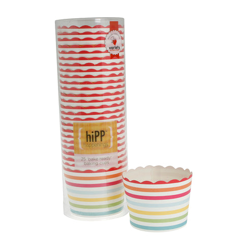 carnival stripe baking cups