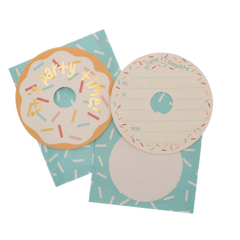 Donut It's Party Time Invitations